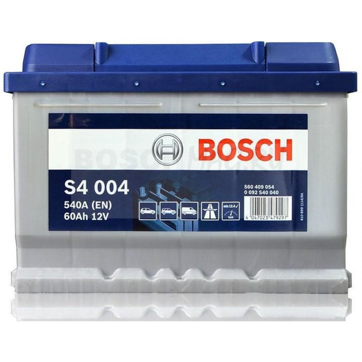 Аккумулятор Bosch Silver 60AH S4 004 (0 092 S40 040)