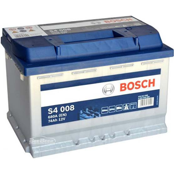 Аккумулятор Bosch Silver S4 74AH 008 (0 092 S40 080)