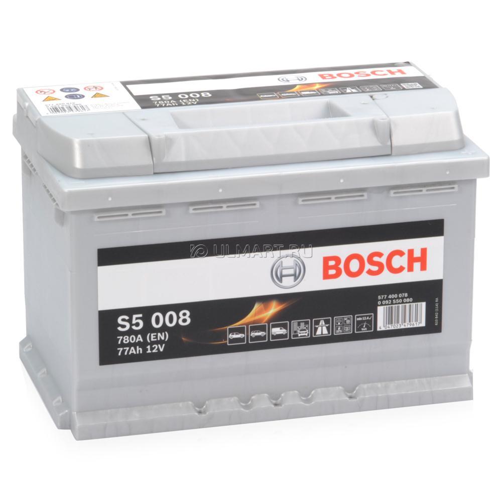 Аккумулятор Bosch Silver Plus 77AH S5 008 (0 092 S50 080)