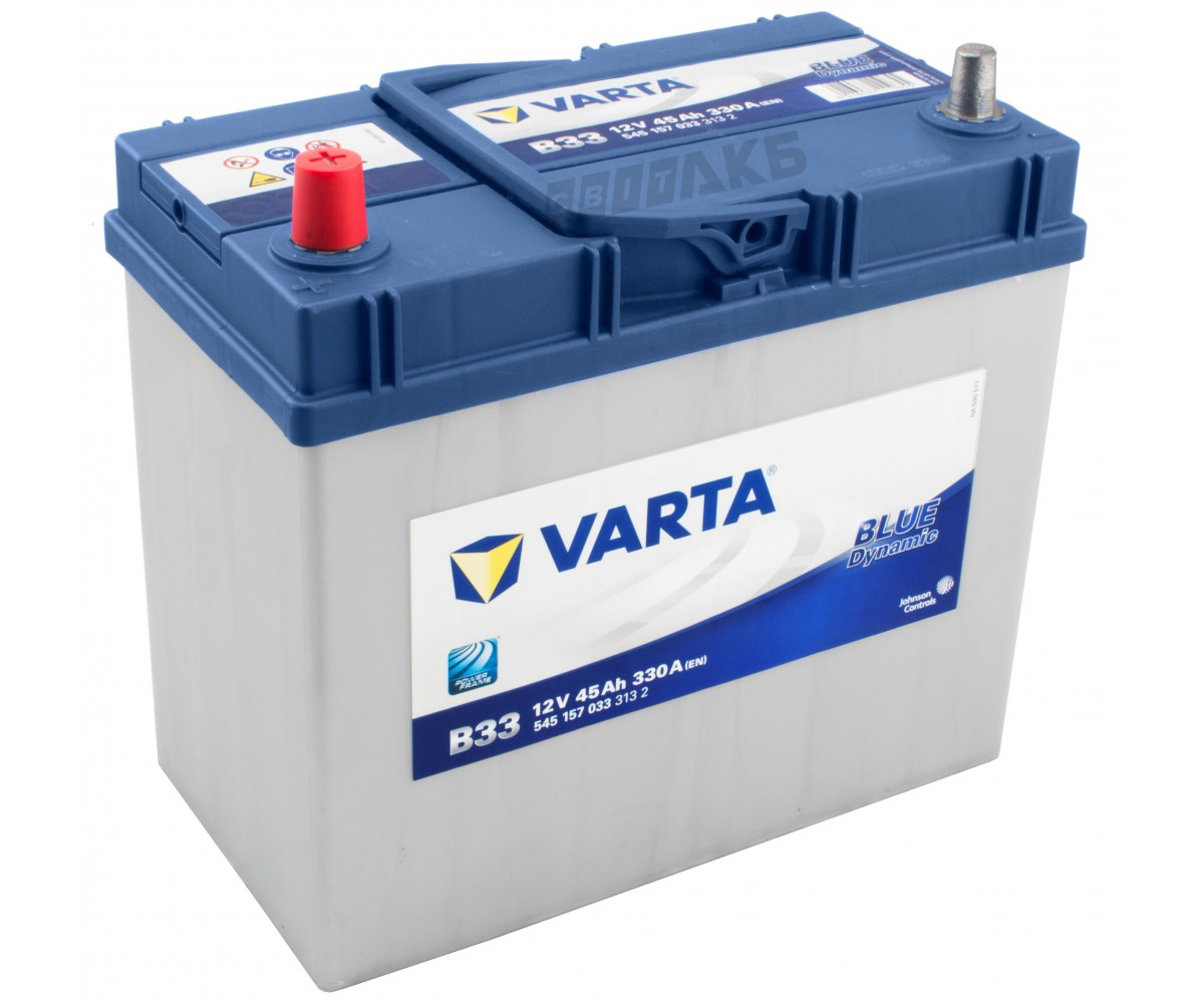 Аккумулятор Varta Blue Dynamic 45AH B33 (545 157 033)