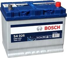 Аккумулятор Bosch Silver 70AH S4 026 (0 092 S40 260)