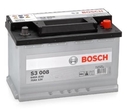 Аккумулятор Bosch 70AH  S3 008 (0 092 S30 080)