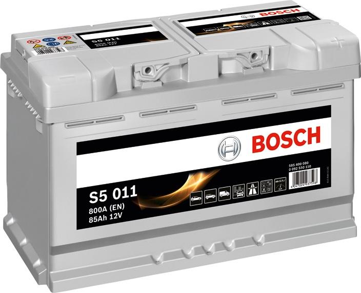 Аккумулятор Bosch Silver Plus 85AH  S5 011 (0 092 S50 110)