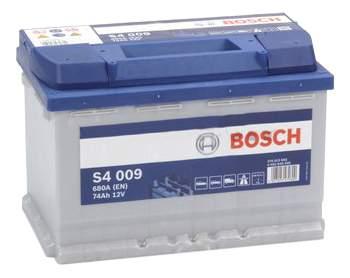 Аккумулятор Bosch 74AH  S4 009 (0 092 S40 090)