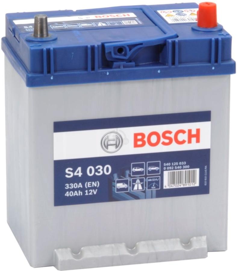 Аккумулятор Bosch Silver 40AH  S4 030 (0 092 S40 300)