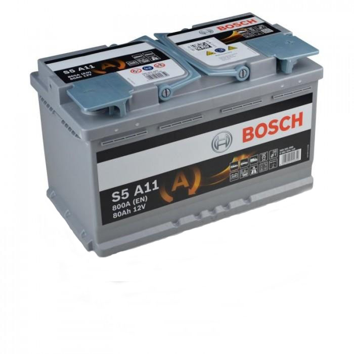Аккумулятор Bosch Silver AGM 80AH S5 A11 (0 092 S5A 110)