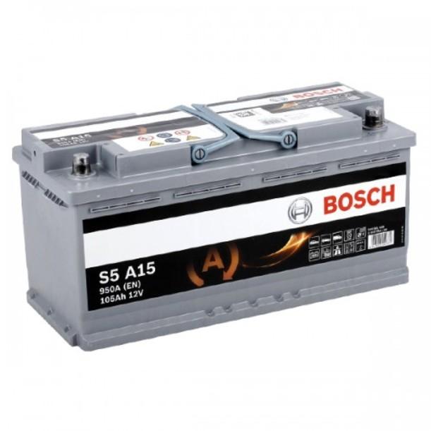 Аккумулятор Bosch Silver AGM 105AH  S5 A15 (0 092 S5A 150)