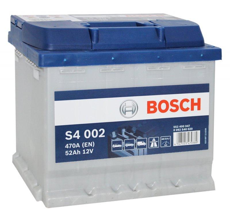 Аккумулятор Bosch Silver 52AH  S4 002 (0 092 S40 020)