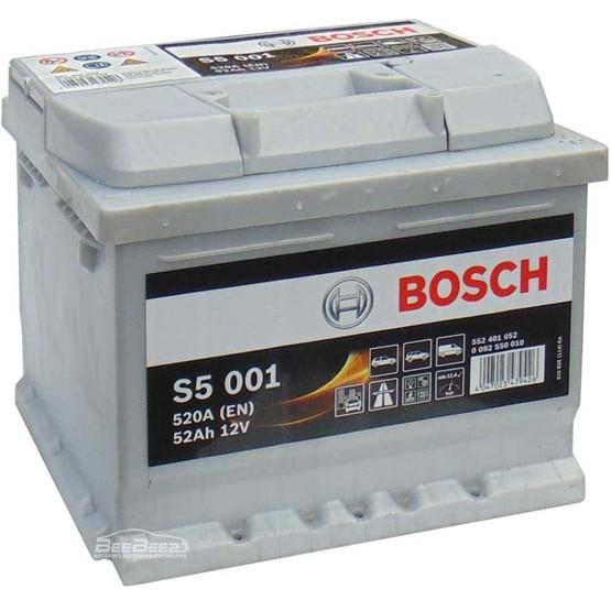 Аккумулятор Bosch Silver Plus 52AH  S5 001 (0 092 S50 010)