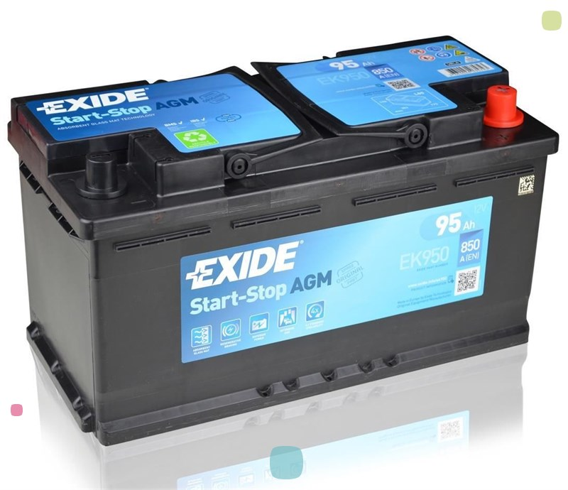 Аккумулятор Exide Start-Stop AGM EK950