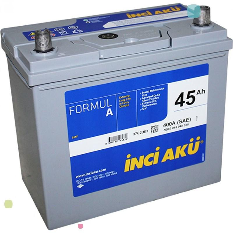 Аккумулятор Inci Aku FormulA Asia (NS60 045 040 030)