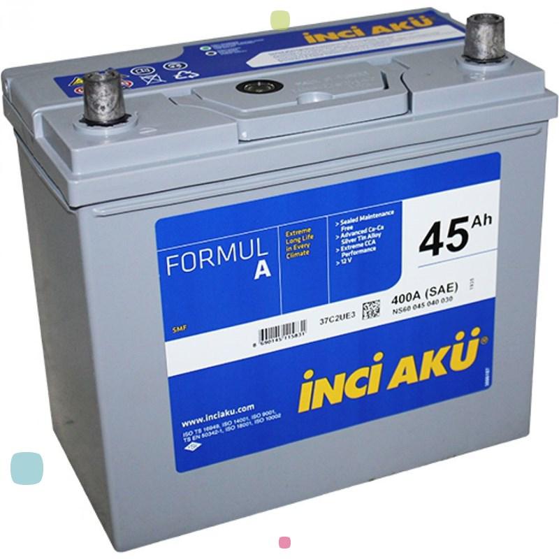 Аккумулятор Inci Aku FormulA Asia (NS60 045 040 130)