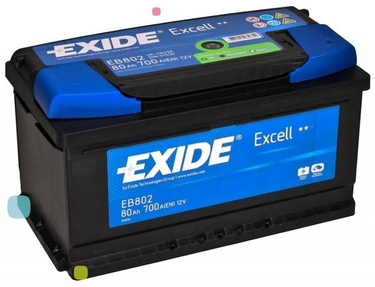 Аккумулятор Exide Excell EB802